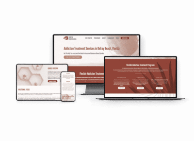serene beginnings website redesign on computers and mobile